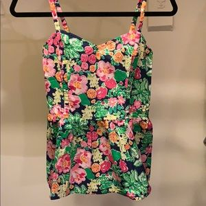 NWOT Lilly Pulitzer size 2 Floral Peplum top